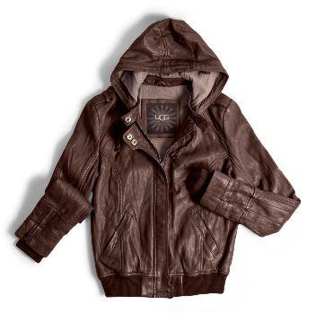 женская кожаная куртка ugg