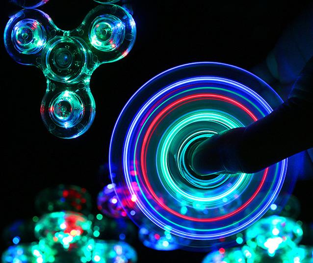 светодиодные спиннеры с подсветкой