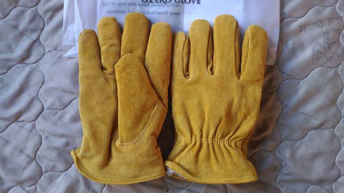 Мужские зимние перчатки Ozero из воловьей замши