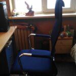 Обновил компьютерное кресло, взял синее от Бюрократ с высокой спинкой