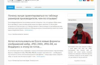 Скриншот моего блога, одетого в шаблон Iconic One
