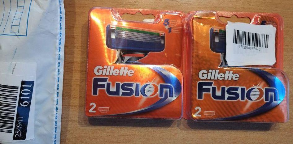 Поддельные сменные кассеты (лезвия) Gillette Fusion 5