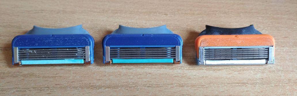 Поддельные сменные кассеты (лезвия) Gillette Fusion 5 в сравнении с оригиналом.