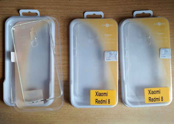Прозрачные силиконовые чехлы-накладки (бампера) для Xiaomi Redmi 8