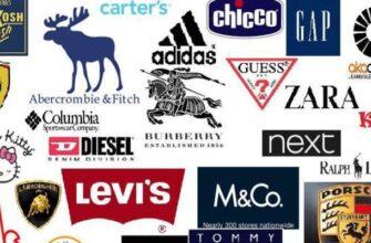 Популярные бренды одежды и обуви