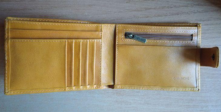 Жёлтое мужское портмоне из натуральной кожи от российского бренда Dimanche