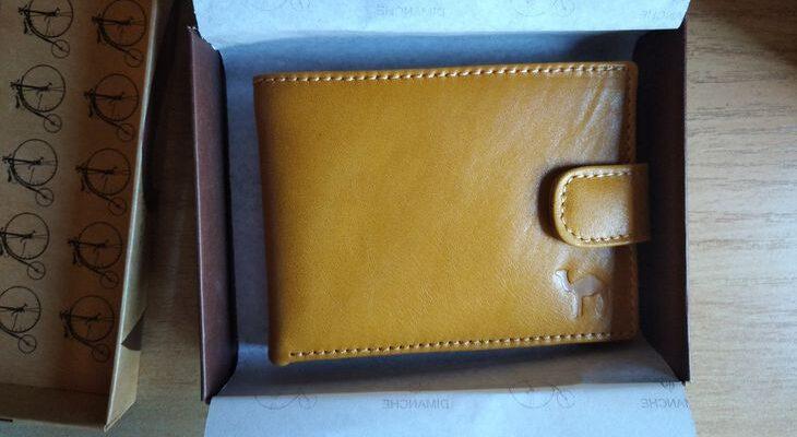 Желтое мужское портмоне от российского бренда Dimanche
