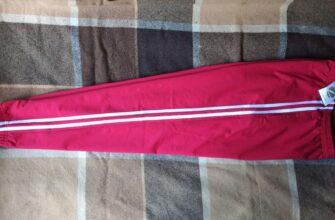 Красные спортивные брюки Zari с белыми лампасами