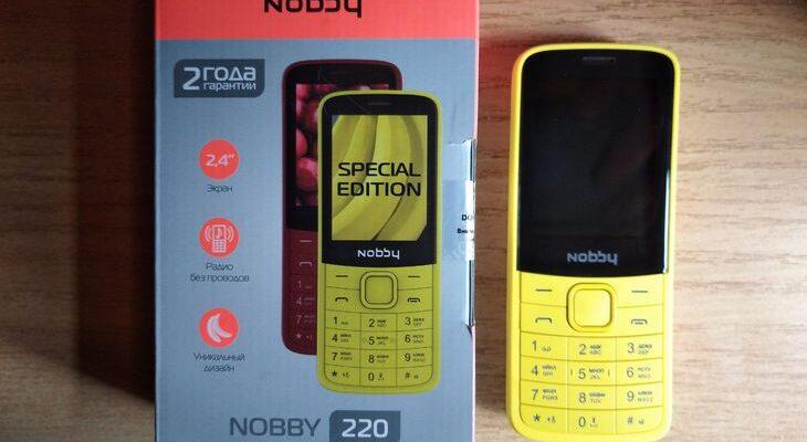 Кнопочный мобильный телефон Nobby 220