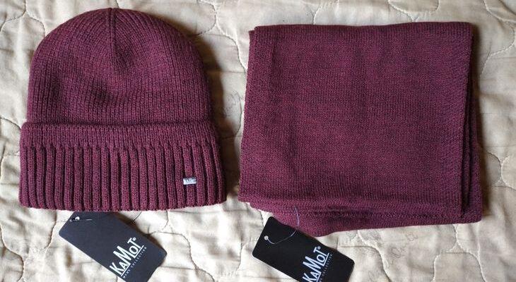 Мужские шапка и шарф от российского бренда КАМОТ